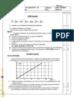 Devoir de Contrôle N°1 - physique chimie - 2ème Sciences exp (2010-2011) Mr hafsi - Copie