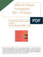 Português  6 ETAPA  EJA APOSTILA