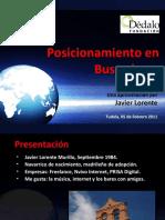 Posicionamiento en Buscasdores (SEO / SEM / SMO) - Fundación Dédalo - Tudela 5 de Febrero 2011