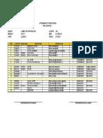 Lista de filtros DD 311