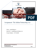 indian partnership act assignment