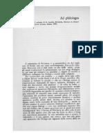 Angelo Brelich, Ad Philologos