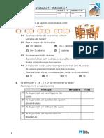 Matematica 7ano Teste4(Mar19)