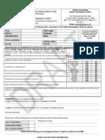 Golder Registration & Comment Sheet