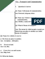 Transport & communication notebook work