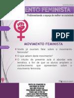 Feminismo-problematizando o espaço da mulher na sociedade