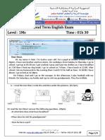 Examen Et Correction Anglais 1AM T2