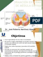 CLASE 2 CONFORMACIÓN EXTERNA E INTERNA DE MÉDULA ESPINAL.pptx