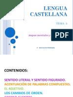 TEMA 3 CASTELLANO