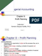 Chapter 8 Profit Planning STD