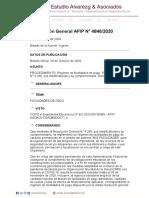 Rg 4846-2020 Afip Regimen Facilidad