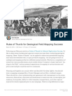 Rules of Thumb for Geological Field Mapping Success Erik Ronald LinkedIn