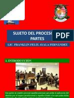 SUJETO DEL PROCESO LAS PARTES