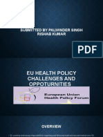 EU HEALTH POLICY CHALLENGES AND OPPOTURNITIES