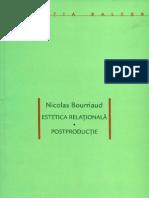 Nicolas Bourriaud - Estetica relationala. Postproductie