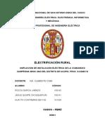 2do PROYECTO DE ELECTRIFICACION RURAL