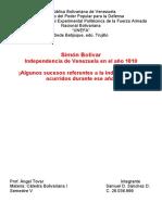Simon Bolivar 1810-1812