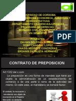 DIAPOSITIVAS CONTRATO DE PREPOSICION