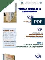 TEORIAS GENERALES Y REGIONALES DE LA ARQUITECTURA