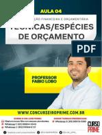 07-04 AULA 4 - AFO - TÉCNICAS - ESPÉCIES DE ORÇAMENTO - FÁBIO LOBO.pdf