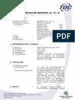 Ficha Tecnica de Abonofol 30-10-10 Tqc