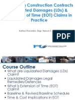 Managing Construction Contracts Liquidated Damages (LDs) &  Extension of Time (EOT) Claims in Practice