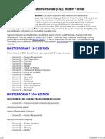 Construction Specifications Institute (CSI)
