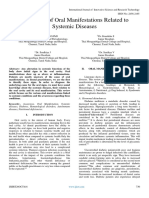 Awareness of Oral Manifestations Related to Systemic Diseases