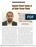Reactive Power Issues in Grid Connected Solar Plants