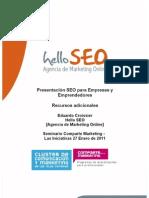 Recursos SEO para Empresas por Eduardo Croissier de Hello SEO - Seminario Comparte Marketing Enero 2011