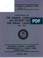 A Brief History of the Marine Corps Base and Recruit Depot San Diego, California 1914 - 1962