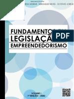 Fundamentos em Legislação e Empreendedorismo- Vol 1 - 2020