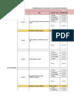 Cronograma Actividades -SALUD Y PRIMEROS AUXILIOS COMUNITARIOS -2020-1