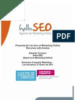 Recursos Intro al Marketing Online Por Eduardo Croissier Hello SEO - Comparte Marketing Enero 2011