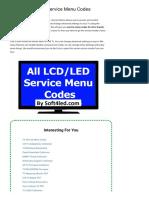 ALL LCD_LED TV Service Menu Codes » Soft4led