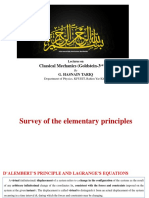 D-Alembert principle and Lagrange's Equations