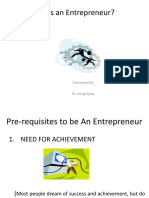 Who is an Entrepreneur (1)