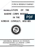 Mobilization of the Marine Corps Reserve in the Korean Konflict 1950-1951