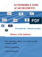 Indian Automobile Industry (Car Segment) by Mahesh Savaliya