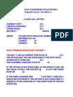 Option Price Basics Exercise