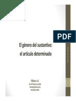 REGLAS GÉNERO DEL SUSTANTIVO