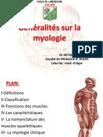Généralités sur la myologie Dr RETIA