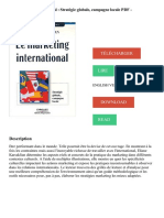 Le marketing international _ Stratégie globale, campagne locale PDF - Télécharger, Lire.pdf