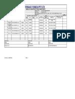 Weld Inspection Report ( Weld Traceability Report)