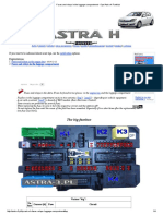 Fuses and relays in the luggage compartment - Opel Astra H Fanklub