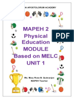 MAPEH 2 PHYSICAL EDUCATION 1st