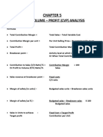 Chapter 5, CVP Analysis