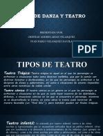 TIPOS DE DANZA Y TEATRO