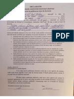 Declaratie privind optiunea de publicare