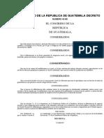 Decreto 43-86 Ley de Alfabetizacion